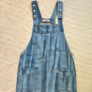 Free people denim overall dress